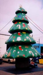 Christmas tree shape advertising inflatable