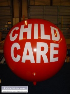 7 ft. helium advertising balloon with lettering