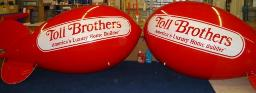 11 ft. red advertising blimps