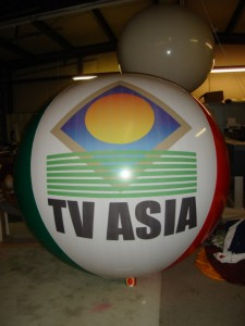 ad balloon with custom logo