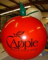 giant red color apple shape balloon