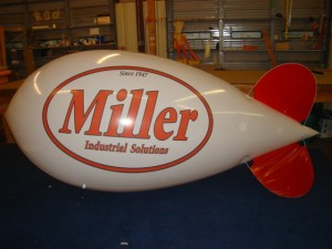 11 ft long advertising blimp with logo