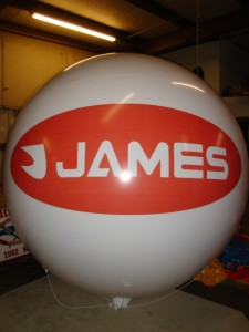 inflatable advertising balloon with James company logo