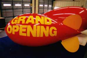 11 feet long helium filled polyurethane blimp for advertising
