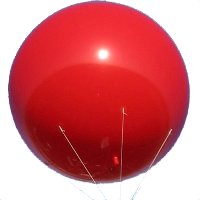 6 ft helium advertising balloon