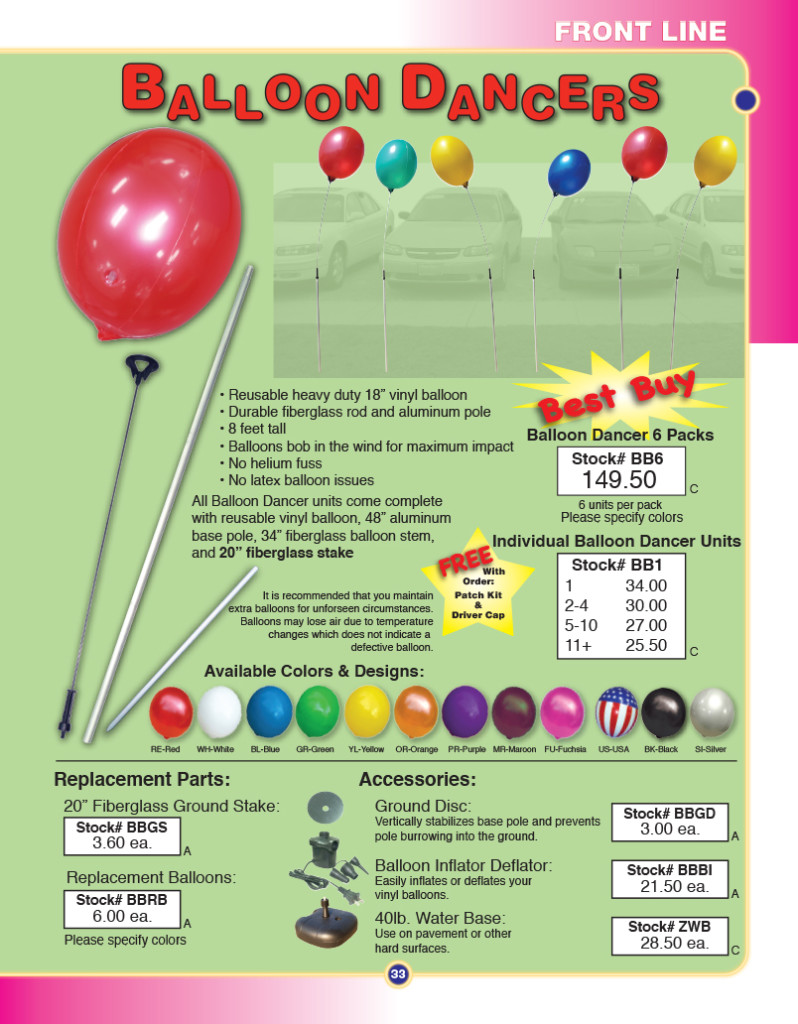 reusable balloon bobbers - plastic balloons on a stick