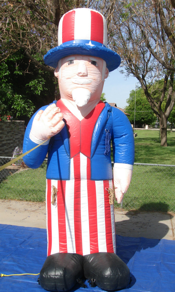 Uncle Sam shape advertising inflatable