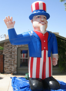 Uncle Sam shape cold-air advertising inflatable