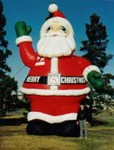 Santa holiday inflatable