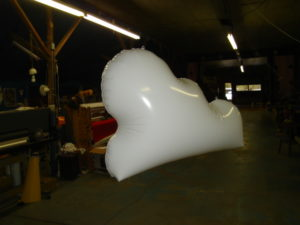 white color 3 feet long polyurethane cloud balloon