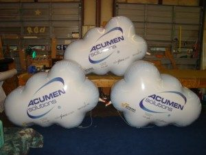 custom helium cloud balloon