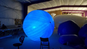 dune balloon with LED light