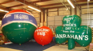 Sizes of advertising balloons