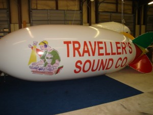 20 ft. advertising blimp with graphics from $2166.00