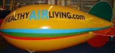 advertising blimp balloon - yellow color with artwork