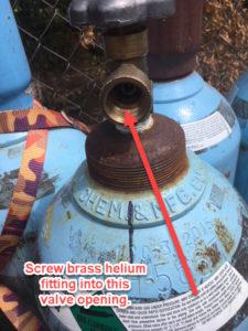 helium tank valve opening