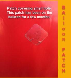 polyurethane helium balloon patch