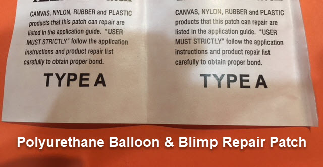 polyurethane helium advertising blimp repair material